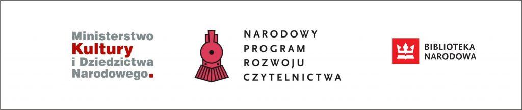 Loga: Ministerstwo Kultury i Dziedzictwa Narodowego,  Narodowy Program Rozwoju Czytelnictwa,  Biblioteka Narodowa