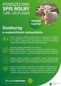 POWSZECHNY SPIS ROLNY 01.09-30.11.2020 – KONKURSY W WOJEWÓDZTWIE MAŁOPOLSKIM