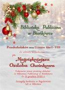 """BIBLIOTEKA PUBLICZNA W BIEŃKÓWCE ZAPRASZA DO UDZIAŁU W KONKURSIE PLASTYCZNYM NA """"NAJPIĘKNIEJSZĄ OZDOBĘ CHOINKOWĄ"""""""