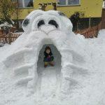 Konkurs Rzeźba w śniegu Miłosz Kubieniec