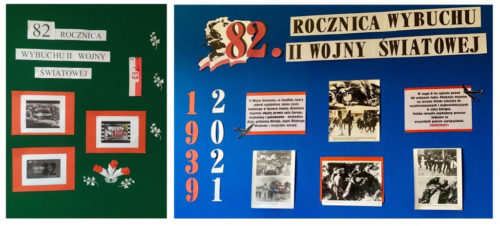 Gazetka informacyjna- upamiętniająca 82. rocznicę wybuchu II wojny światowej
