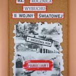Gazetka upamiętniająca 82. rocznicę wybuchu II wojny światowej
